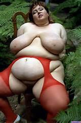 Melonie Anton - BBW 80's Porn Star - Red Lingre -