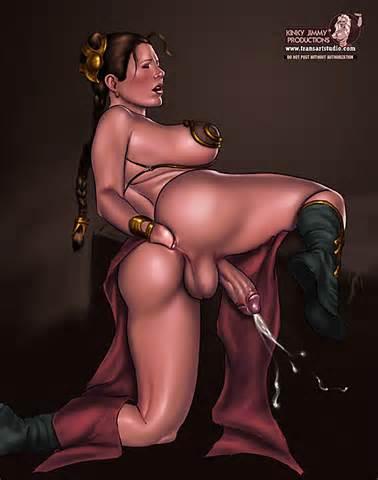 Princess Leia Slave Futanari