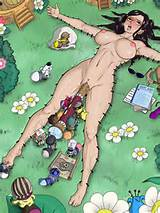 ahgot nico_robin nude one_piece vaginal_insertion