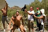 behind the scenes of Falcon porn movie Roughin It gay porn star Leo ...