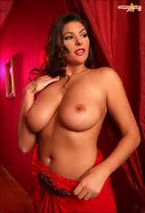Amber Campisi 36DD playboy playmate in a red dress