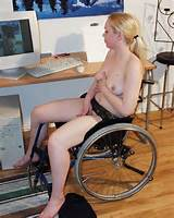 Anja is a sexy wheelchair girl, she loves to masturbate!
